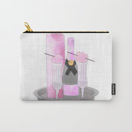 Pink Champagne Carry-All Pouch