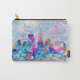 indianapolis city skyline watercolor 2 Carry-All Pouch