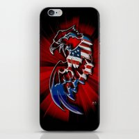 patriotic iPhone & iPod Skins featuring Patriotic Eagle by Mr D's Abstract Adventures