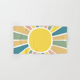 Retro Sunshine Hand & Bath Towel