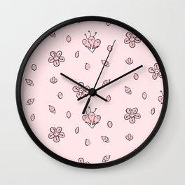 Sweet Sakura Smiles - Springtime - Blushing Pink Wall Clock