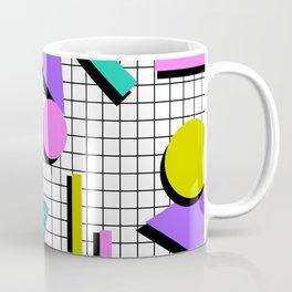 80s Retro Geometric Pattern 2 Coffee Mug