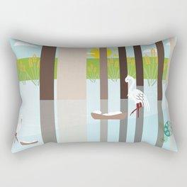 Nesting In the swamp Rectangular Pillow