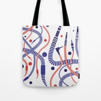 deadmau5 Tote Bags featuring Jackworms by Sitchko Igor