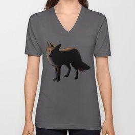 Fox in the Night Unisex V-Neck
