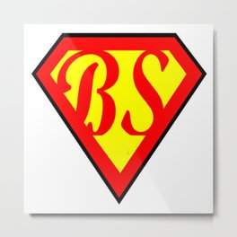 BS superhero Metal Print