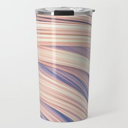 Flow Strand.White and Blue. Abstract Strands Travel Mug