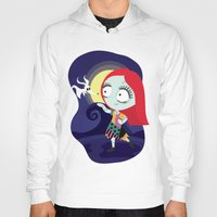 nightmare before christmas Hoodies featuring Sally from Nightmare before Christmas  by Piccolinart