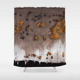Expresso Head and the Coffee Clouds Shower Curtain