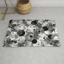 Floating Particles in Space Rug