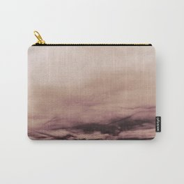 PINK & GOLD & BLACK TOUCHING #1 #abstract #decor #art #society6 Carry-All Pouch
