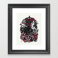 Tattoo Owl Framed Art Print