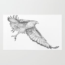 Red Tail Hawk in Flight Rug