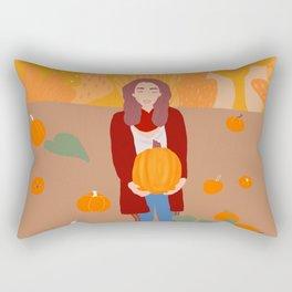 On the pumpkin field Rectangular Pillow