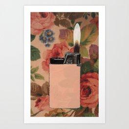 lighter on floral Art Print