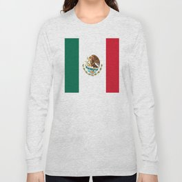 mexican sports fan mexico flag Long Sleeve T-shirt
