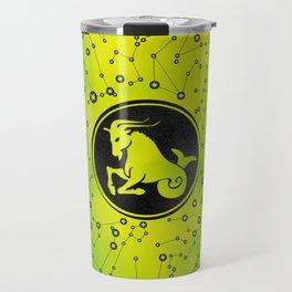 Capricorn Zodiac Sign Earth element Travel Mug
