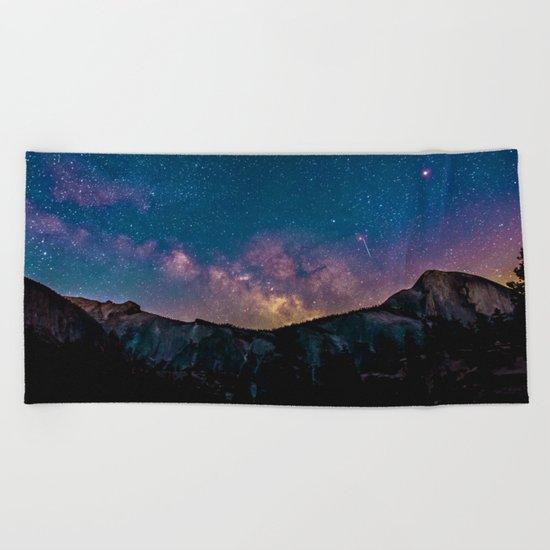 Galaxy Mountain Beach Towel