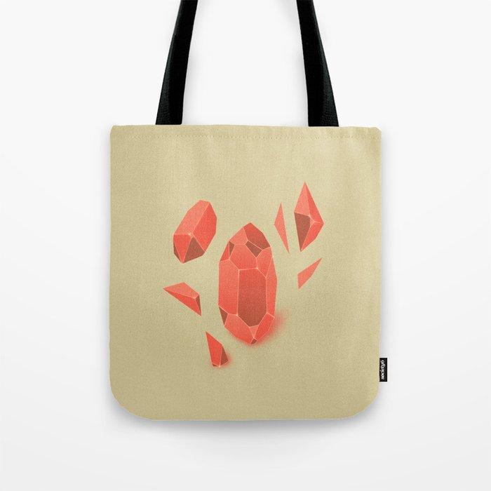Falling Crystals Tote Bag