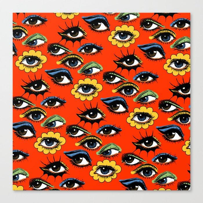 60s Eye Pattern Leinwanddruck