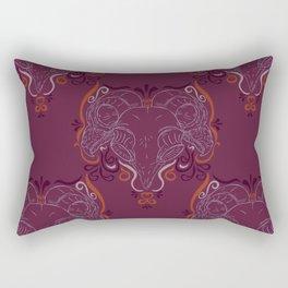 Eastern Screech Owl ~ Purple  Rectangular Pillow