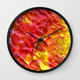 Fire Spiral Wall Clock
