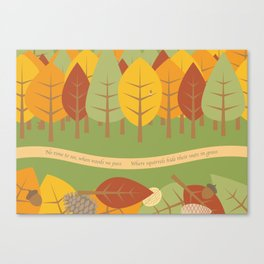 NO TIME TO SEE WHEN WOODS WE PASS ... Canvas Print
