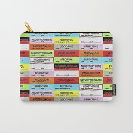 Anesthesia Labels Carry-All Pouch