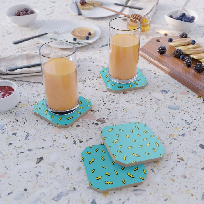 80s wavy sprinkles Coaster