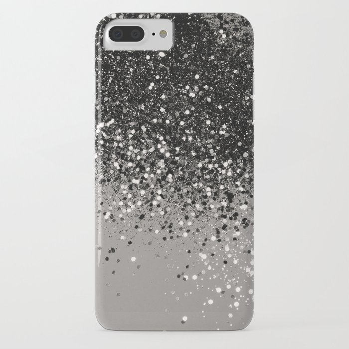 silver gray glitter #1 #shiny #decor #art #society6 iphone case