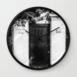 A door in London III   Black & White Photography   Street Photography   Travel Photography   Photo Print   Art Print Wall Clock