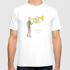 blow the horn you've got White Mens Fitted Tee MEDIUM