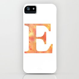 Letter E in warm tones iPhone Case