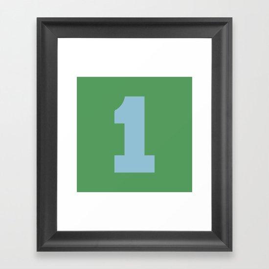 Number 1 Framed Art Print