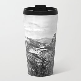 The Mountains B&W Travel Mug