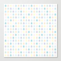 polkadot Canvas Prints featuring Mini Pastel Polkadot by chelsea dawn brown
