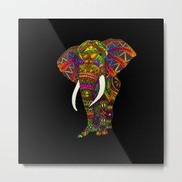 Elephant Kaleidoscope - Watercolor Metal Print
