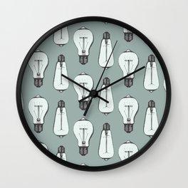 Lightbulb Moment in Aqua Wall Clock
