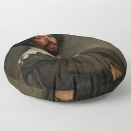 """Diego Velázquez """"Portrait of Juan de Pareja"""" Floor Pillow"""