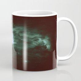 Dark Forest Green Teal Orion Nebula Coffee Mug