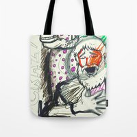 sketch Tote Bags featuring Sketch by Alec Goss