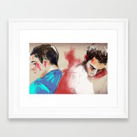 sterek Framed Art Prints featuring sterek by Crisis
