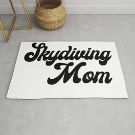 Skydiving Mom Rug