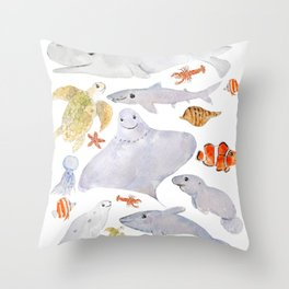 Sea Animals Throw Pillows For Any Room Or Decor Style Society6