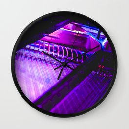 Neon Piano Wall Clock