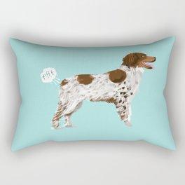 Brittany Spaniel dog breed funny dog fart Rectangular Pillow
