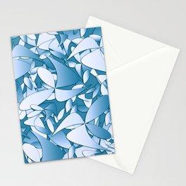 Pattern blue 155 Stationery Cards