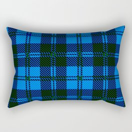 Blue Tartan Wool Material Rectangular Pillow