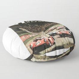 Le Mans 1964, Le Mans poster, Le Mans t shirt, Race poster, Floor Pillow