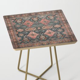 N255 - Vintage Oriental Old Traditional Boho Moroccan Fabric Style Side Table